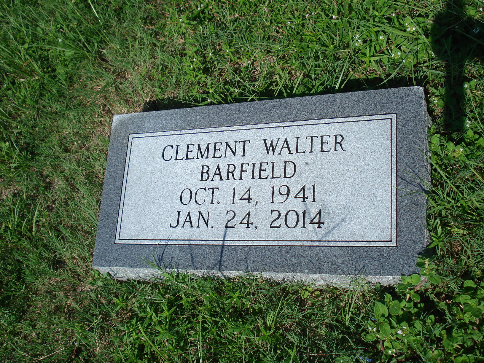 Clement Walter,  Dr. Barfield