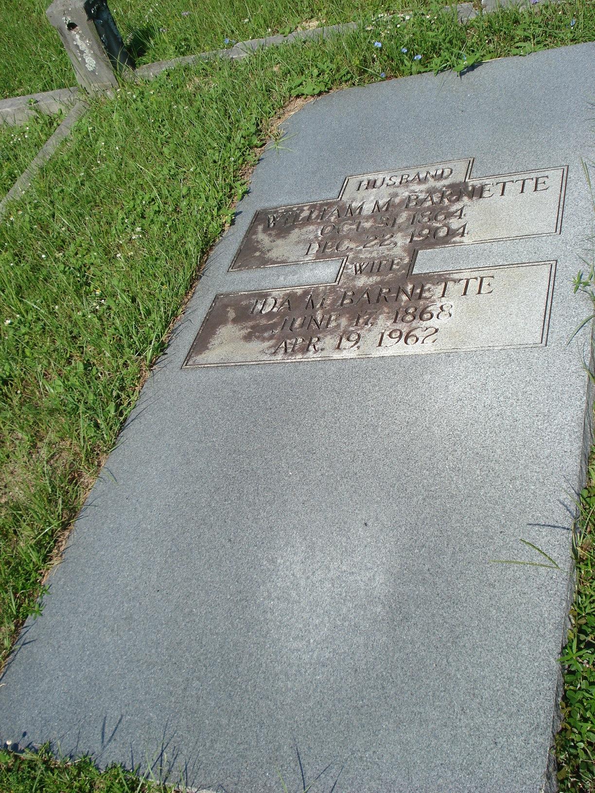 William M Barnette