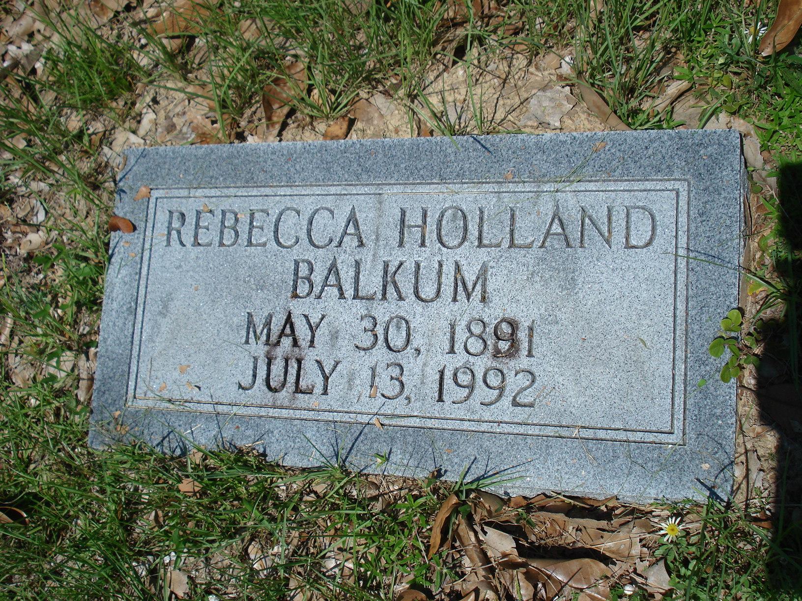 Rebecca Holland Balkum