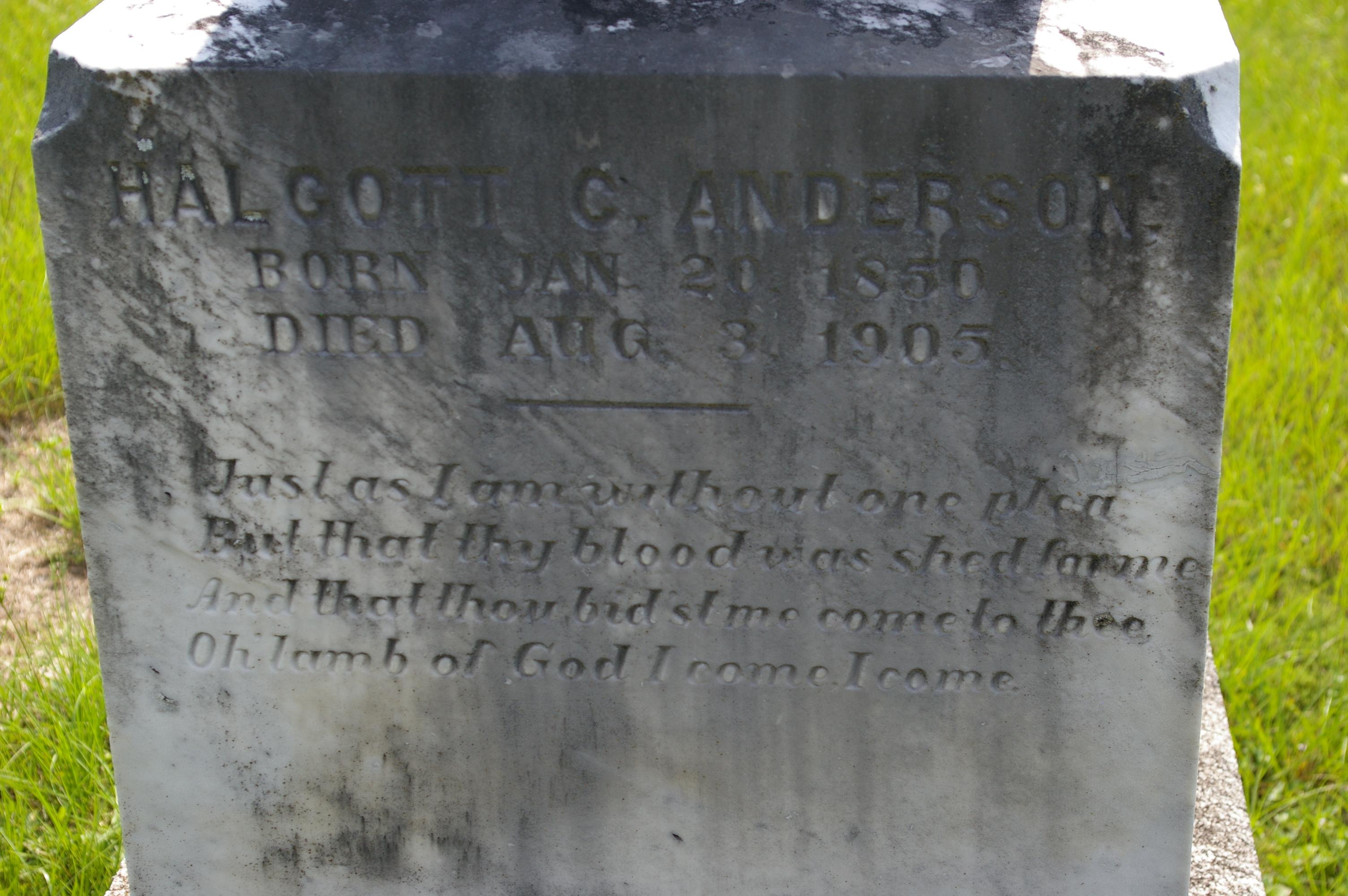 Halcott C. Anderson