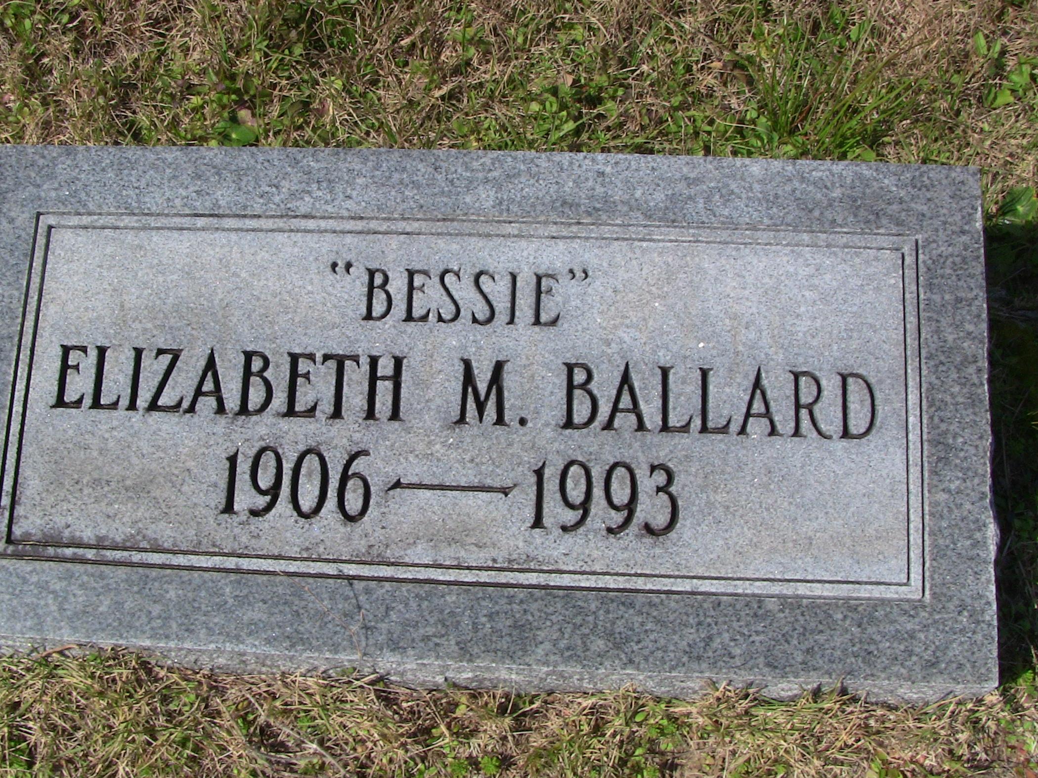 Bessie Elizabeth M. Ballard