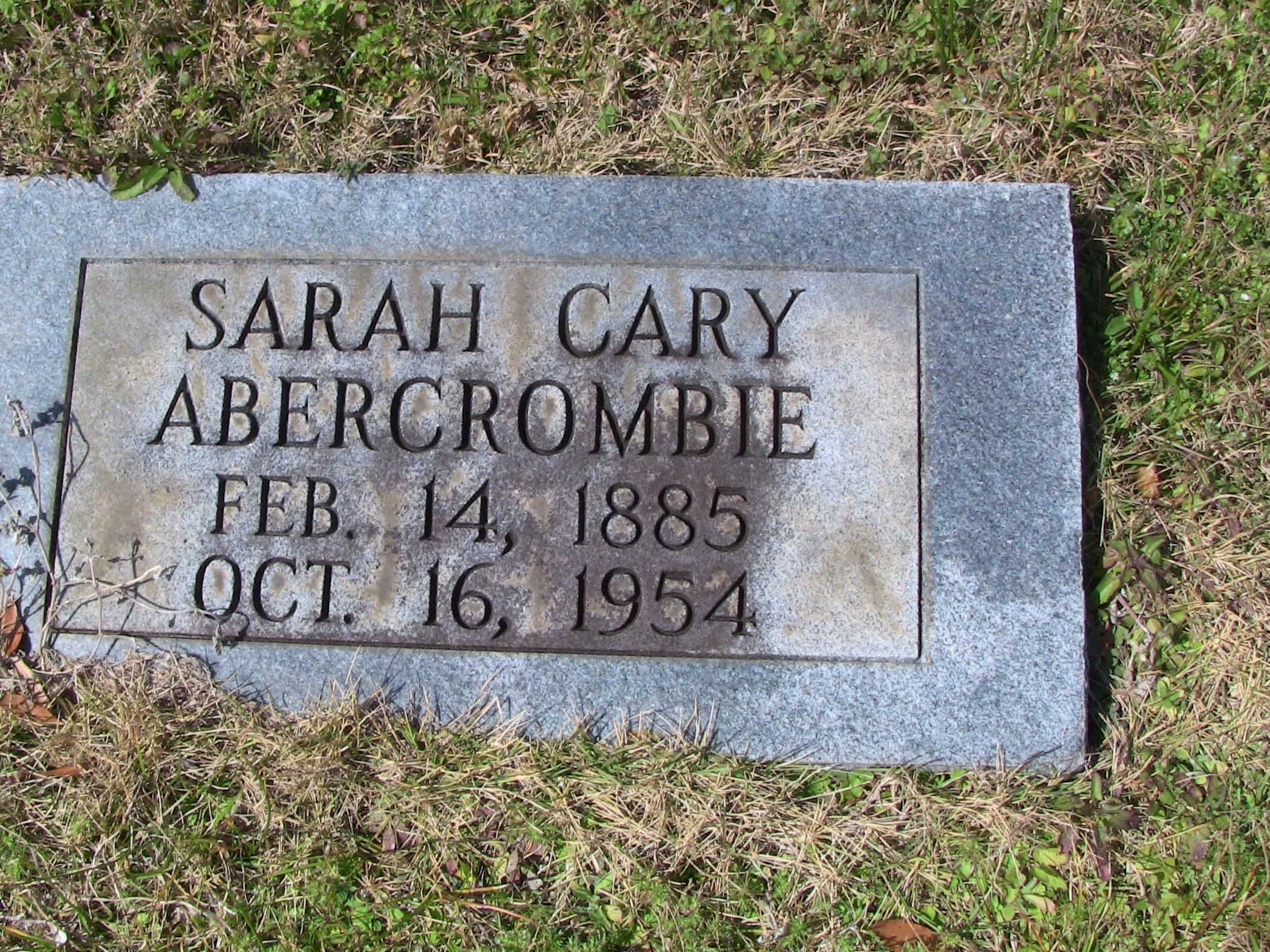 Sarah Cary Abercrombie
